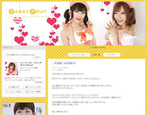 ヨドバシAkiba初のメイドカフェは3ヶ月で閉店に! 既存店舗「キャンディフルーツ ストロベリィ」も年明けに閉店