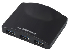 3ポートハブ一体型のUSB3.0対応LANアダプタ! グリーンハウス「GH-ULA303AK」発売