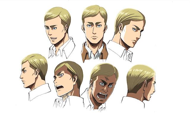 エルヴィン・スミス(CV:小野大輔) 調査兵団の団長。冷酷かつ非情な指揮官だが、リヴァイさえも一目置く存在。