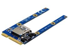 Mini PCI Express-USB2.0変換基板が登場! ハーフサイズにも対応