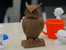 家庭用3Dプリンタの体験イベント「SCOOVO体験会」が開催! 複雑な造形物が多数展示