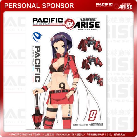 攻殻機動隊ARISE、レースクイーン姿の描き下ろし「モト子」が公開に! コラボポルシェの個人スポンサー特典で