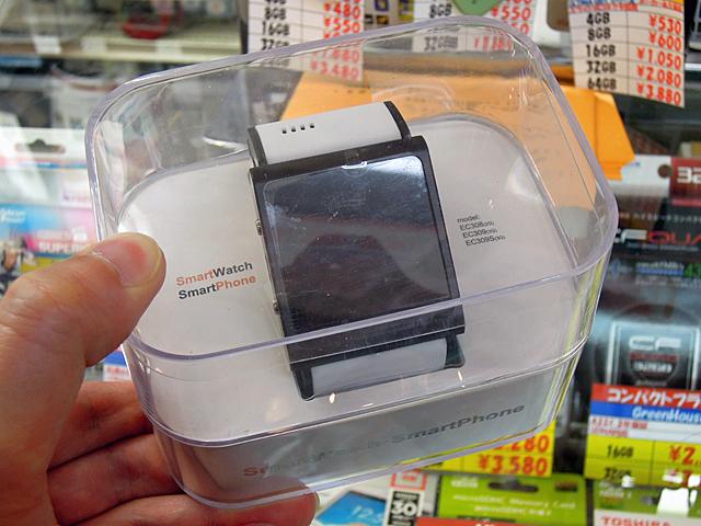 3G通信対応の腕時計型Androidスマホ「SmartWatch SmartPhone EC309」にカラバリモデルが登場!