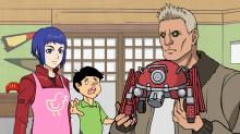 パロディ版「攻殻機動隊ARISE」、最終話では素子とバトーが子持ち夫婦に! 梶裕貴は入魂の「ゆとりバトー」を披露