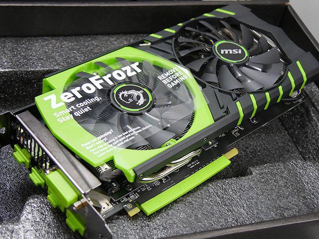 NVIDIAカラー/バックプレート付きのMSI製GTX 960が発売に!