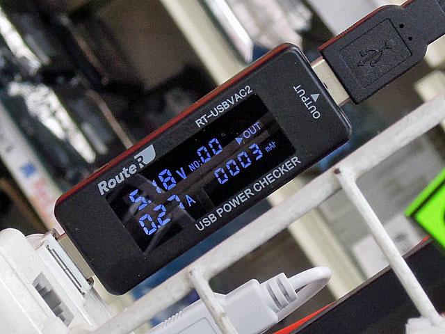 給電時間も表示できるUSB電流チェッカー ルートアール「RT-USBVAC2」が登場!