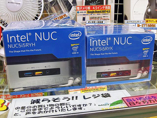 Broadwell-U版Core i5搭載NUCが登場! 「NUC5i5RYH」 「NUC5i5RYK」 「NUC5i5MYHE」の3モデル