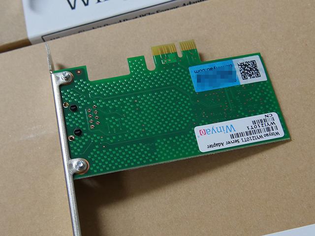 「WYI210T1」(1ポート版、I210-AT、PCI Express x1接続)