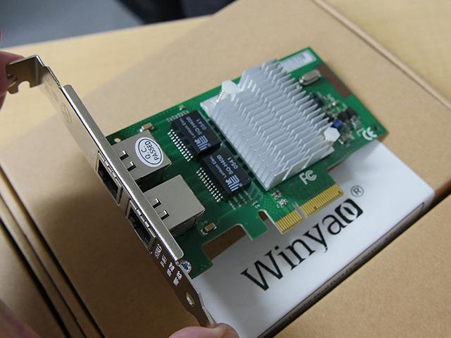 「WYI350-T2」(2ポート版、I350-AM2、PCI Express x4接続)