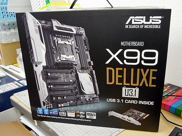 USB 3.1ポート拡張カード付属のASUS製X99マザー2モデルが明日18日(土)発売!