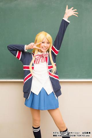 「ハロー!!きんいろモザイク」、アリスたちが着ている女子制服が本格コスプレ衣装に! カレン愛用パーカーも
