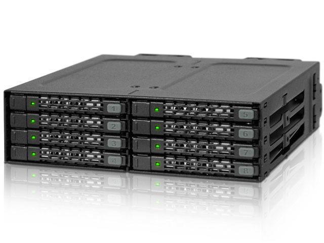 8台の2.5インチHDDが搭載可能な5インチベイ用リムーバブルボックス ICY DOCK「MB998SP-B」が登場!