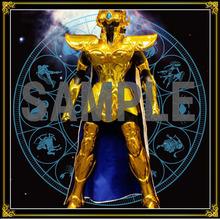 webアニメ「聖闘士星矢 黄金魂 -soul of gold-」、新宿駅に巨大広告を掲出! 黄金聖闘士12人のイラストやレオ等身大立像