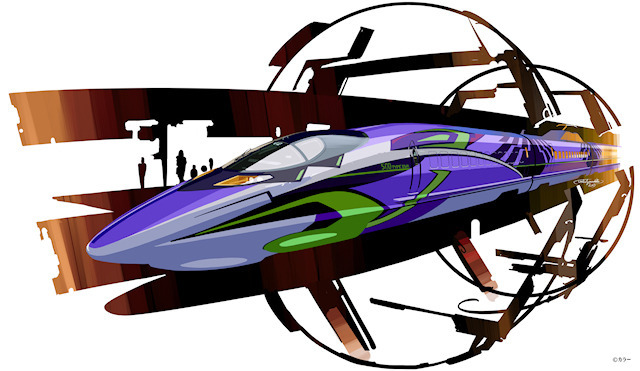エヴァ、山陽新幹線とコラボ! 今秋から初号機デザインのコラボ車両「500 TYPE EVA」を運行