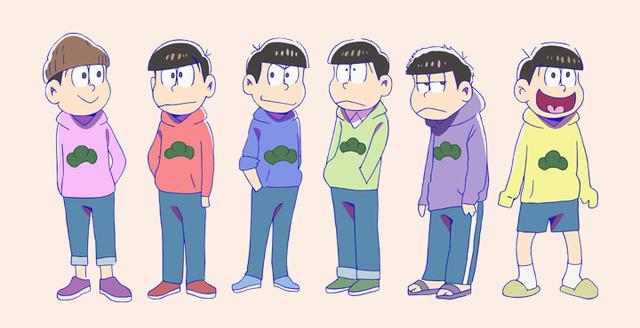 秋アニメ「おそ松さん」、6つ子の私服姿を公開! 見分け方は着こなしの違い!? キャスト・スタッフコメントも