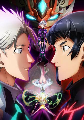 TVアニメ「アクエリオンロゴス」、2人が対峙するキービジュアル第2弾を公開! 「ベクター餓号機」「アクエリオン燦」の設定も