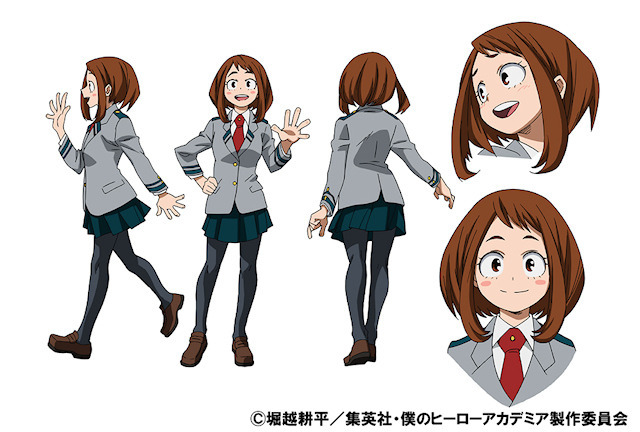 TVアニメ「僕のヒーローアカデミア」、新たに2人のキャラ設定画を公開! 麗日お茶子と飯田天哉
