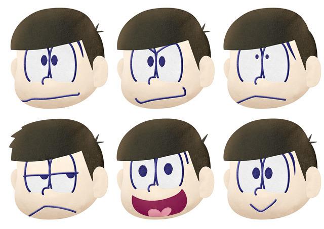 「おそ松さん」、6つ子たちのプライズ各種がバンプレストから! 推し松タオル、顔ぬいぐるみ、推し松ポーチなど