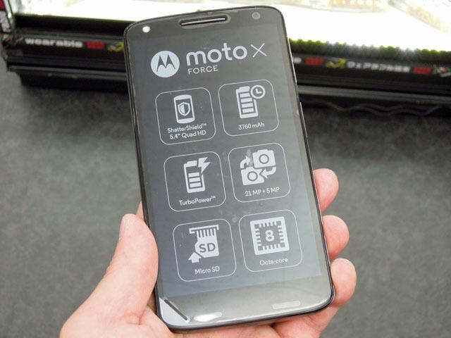 割れにくい強化構造ディスプレイを搭載したMotorola製スマホ「Moto X Force」が登場!