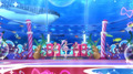 アニメ映画「プリパラ」最新作、「SoLaMi SMILE」の3人がオオサカ・プの海ピュー館を訪問! 親子試写会レポート