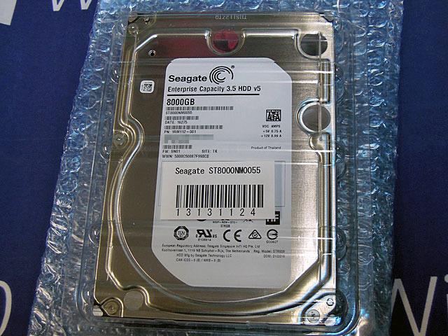 24時間365日稼動前提のデータストレージ向け8TB HDD「ST8000NM0055」がSeagateから!
