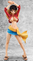 ワンピース、ルフィの女体化フィギュアが登場! ミニスカで胸元をはだけたメリハリボディを表現