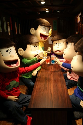 TVアニメ「おそ松さん」×佐賀県、「さが松り居酒屋」内覧会レポート! 6つ子も早速飲み会を開催!?