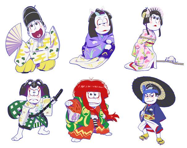 Tvアニメおそ松さん歌舞伎とコラボ 新規描き起こしイラスト使用