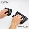 コンパクトな左右分離型メカニカルキーボード「Barocco」がMISTELから!
