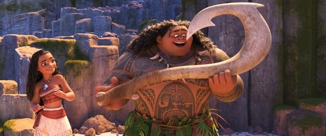 アニメ映画「モアナと伝説の海」、マウイが登場する本編映像を公開! 歌舞伎俳優・尾上松也の歌声が初披露に