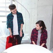 TVアニメ「TIGER & BUNNY」から、虎徹とバーナビーをイメージしたチェックロングシャツの予約受付がスタート!