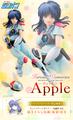 アニメ「赤い光弾ジリオン」より、アップルがヒロインメモリーズに登場!! 劇中マスコットキャラクターのオパオパも付属!!