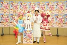 劇場版「キラキラ☆プリキュアアラモード」で声優初出演の尾上松也、パティシエ衣装に身を包んで公開アフレコに挑戦!