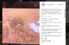 世界的ディーヴァのブリトニー・スピアーズ、息子の描いた「Re:ゼロ」のレムをインスタグラムにアップする!