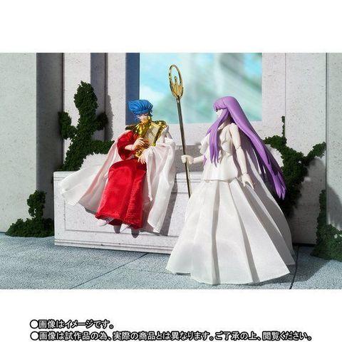 聖闘士聖衣神話シリーズ、商品化要望アンケート第1位の「太陽神アベル」が「女神アテナ」と共にメモリアルセットで登場!!