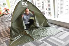 ジオン公国地球方面軍の備品をイメージした「U.C.STYLE INDUSTRIES」でゆるーくキャンプしてみた