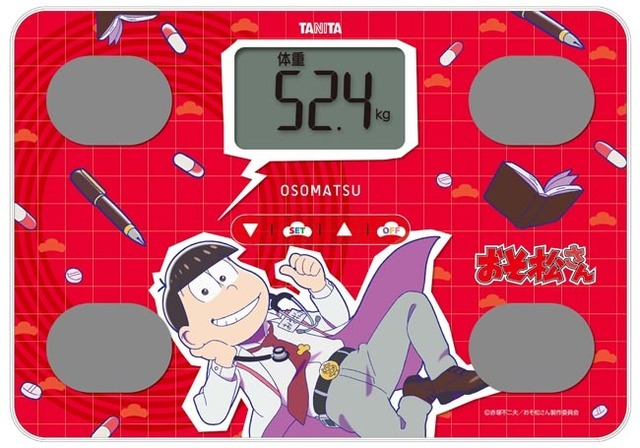 推し松を選んで一緒に楽しく健康づくり!! 「おそ松さんオリジナル体組シェー計」、2月8日より予約受付開始!