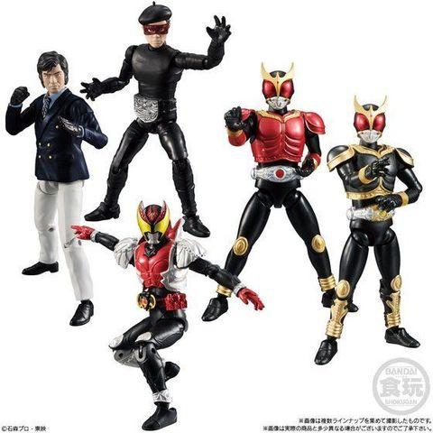 「SHODO仮面ライダーVS」シリーズ第9弾は、仮面ライダークウガ、仮面ライダーキバ、本郷猛とベレー戦闘員が登場!!