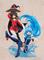 「この素晴らしい世界に祝福を!」、アクアとめぐみんのフィギュアが、モチーフイラストB2タペストリーとセットになって登場!