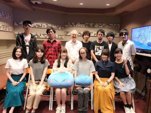2018秋アニメ「転生したらスライムだった件」追加キャストが発表! メインキャスト陣のアフレコ集合写真とコメントも到着
