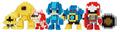 「ロックマン」の人気キャラたちが世界最小級ブロックnanoblockになって登場!