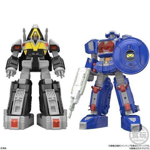 「電磁戦隊メガレンジャー」から、 ギャラクシーメガ&デルタメガがスーパーミニプラで登場!スーパーギャラクシーメガも再現可能