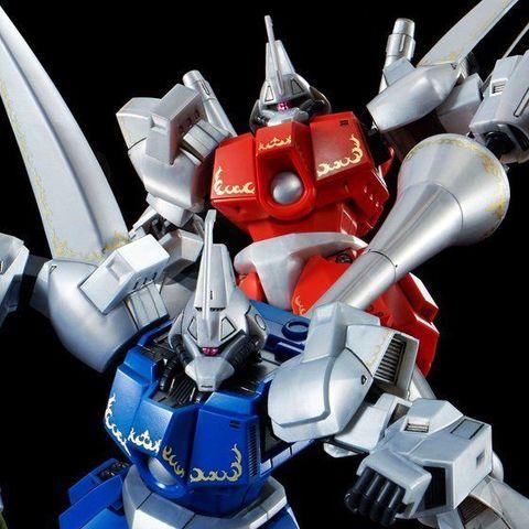 「機動戦士ガンダムZZ」より、「ロイヤル・ガード」所属、ガズアルとガズエルが2体セットでHGシリーズに登場!