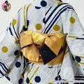 """「刀剣乱舞」から、刀剣男士をイメージした小紋の着物と、""""こんのすけ""""をモチーフとした半幅帯が登場!!"""