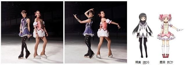「マギアレコード 魔法少女まどか☆マギカ外伝」新CMに、ザギトワ&メドベージェワがまどか&ほむらをイメージした衣装で出演