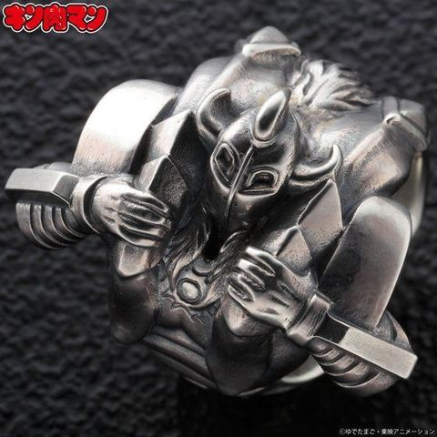 40周年の「キン肉マン」から、スカルクラッシュを再現した悪魔将軍のシルバーリングが登場!