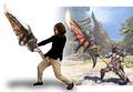 炎剣リオレウス&オオアギトが抱き枕に! イーカプコン限定リクエスト企画「モンスターハンター:ワールド 大剣抱き枕」が予約受付中