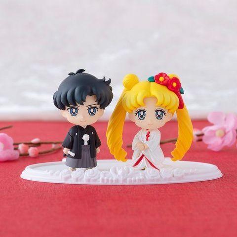 「ぷちきゃら!美少女戦士セーラームーン」、新作はウェディングドレスから和装へお色直ししたハッピーウェディング第2弾!