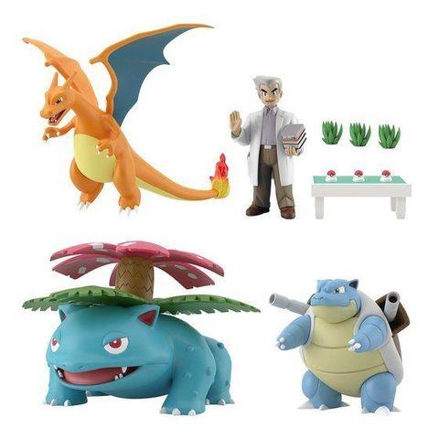 「ポケモンスケールワールド カントー オーキド博士セット」登場! パートナーポケモン3体の進化形とオーキド博士、テーブルパーツ、草パーツがセットに!
