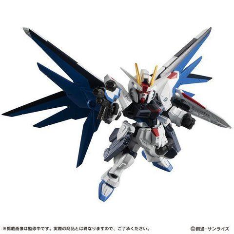 モビルスーツアンサンブルEX14弾は、翼の展開ギミック&ハイマットフルバーストを再現可能な「フリーダムガンダム」が登場!